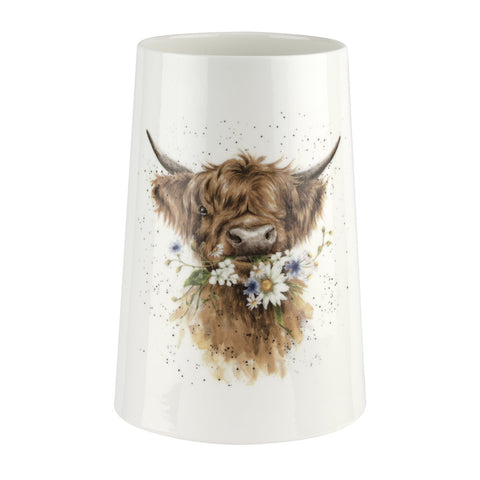 COMING SOON Wrendale Vase Highland Coo