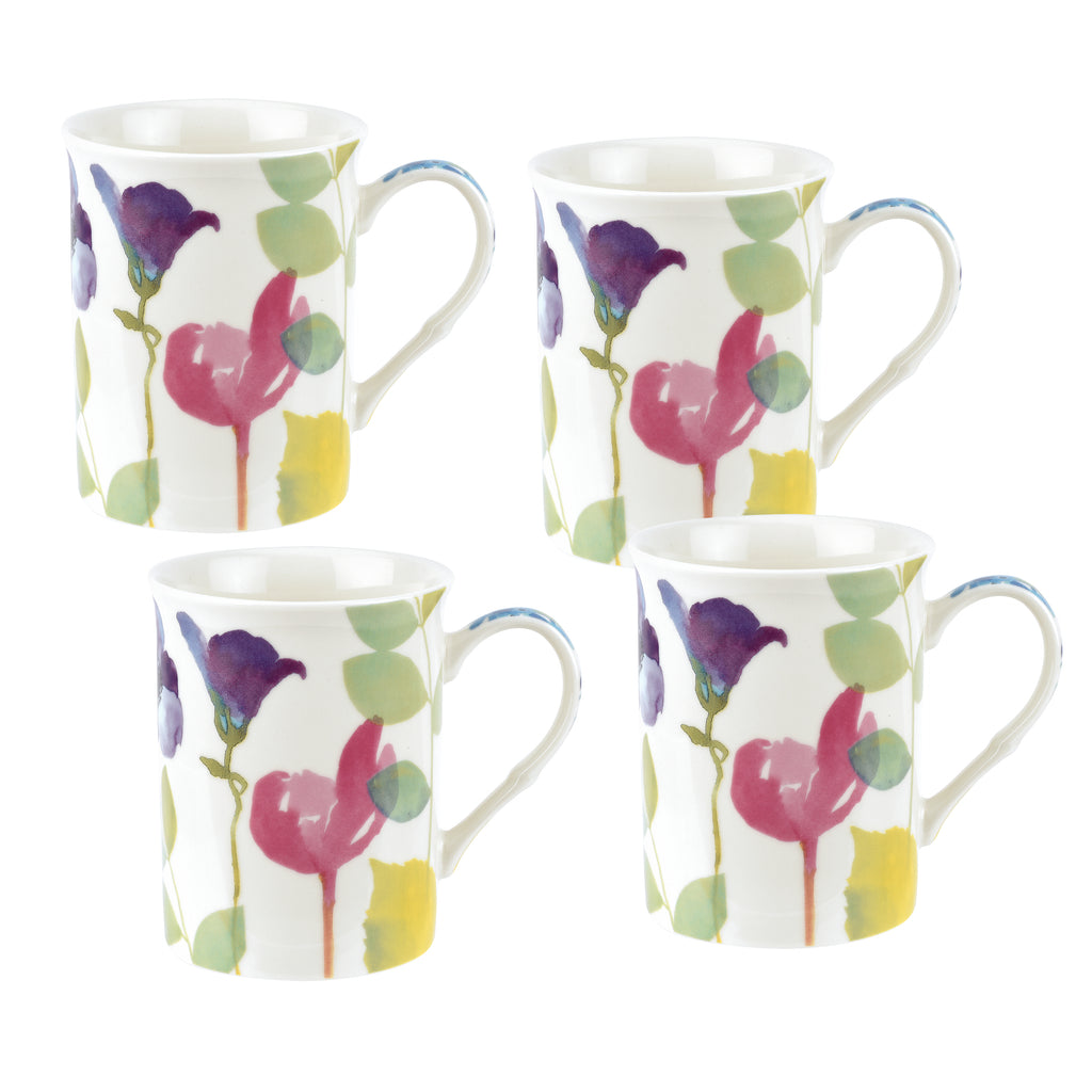 Water Garden Gift Boxed Set of 4 Mugs