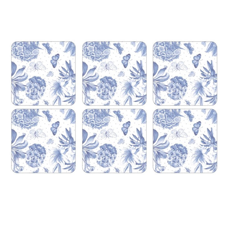 Botanic Blue Coasters - Set of 6