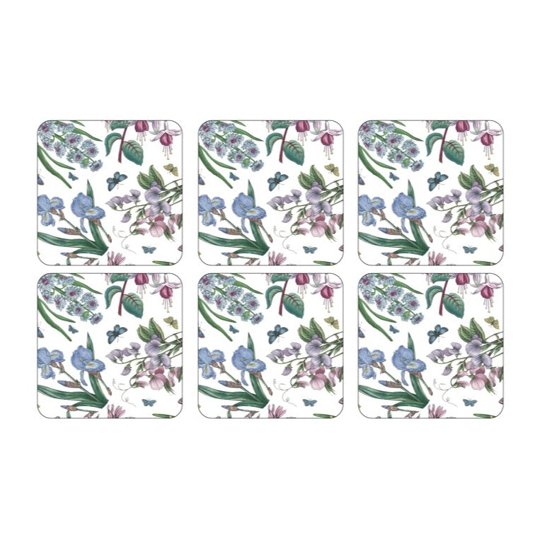 Botanic Garden Chintz Coasters - Box Set of 6