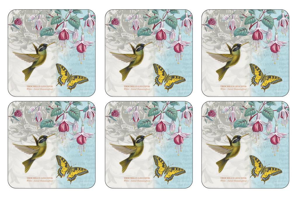 Botanic Garden Hummingbird Coasters ( Box set of 6 )
