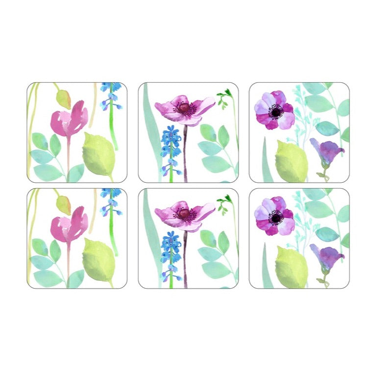 Water Garden Coasters  ( Box Set of 6 )