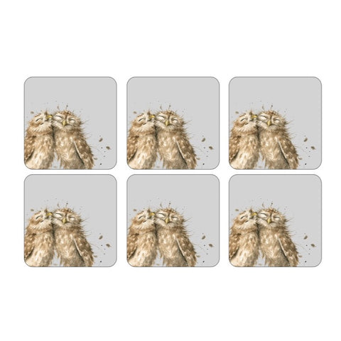 Wrendale Coasters Set of 6 - Owls