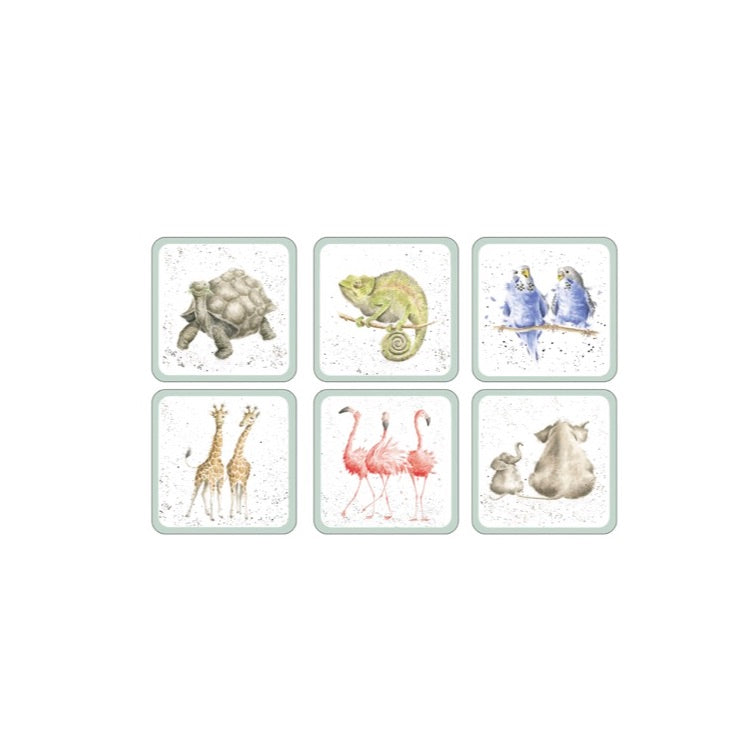 Wrendale Zoological Coasters Set of 6