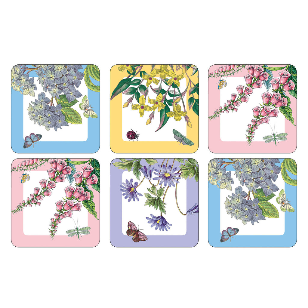 Botanic Garden Terrace Coasters Box Set of 6