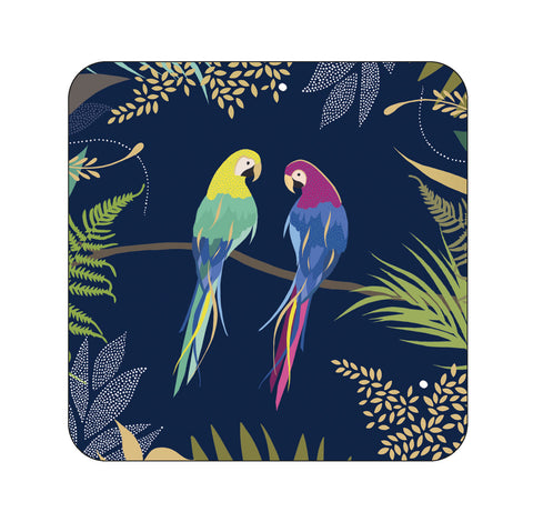 Sara Miller Parrot Collection Coasters Set of 6