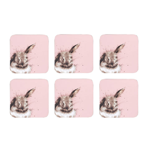 Wrendale Coasters Rabbit Box set of 6