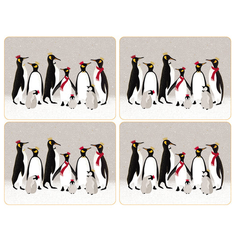 Sara Miller Set of 4 Placemats - Penguin Christmas Collection