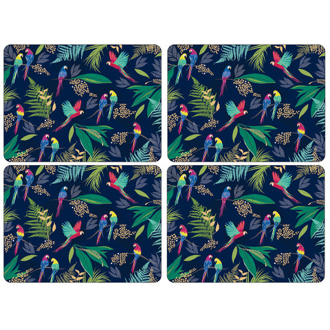 Sara Miller Parrot Collection Placemats ( Box Set of 4 )