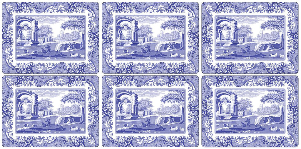 Spode Blue Italian Placemats  ( Box Set of 6 )