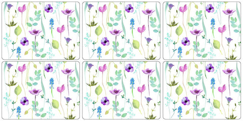 Water Garden Placemats ( Box set of 6 )