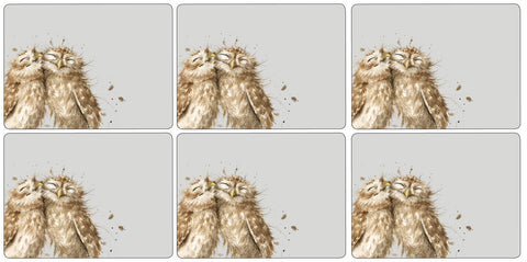 Wrendale Placemats - Owls  ( Box Set of 6 )