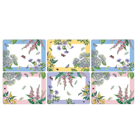 Botanic Garden Terrace Placemats Box Set of 6