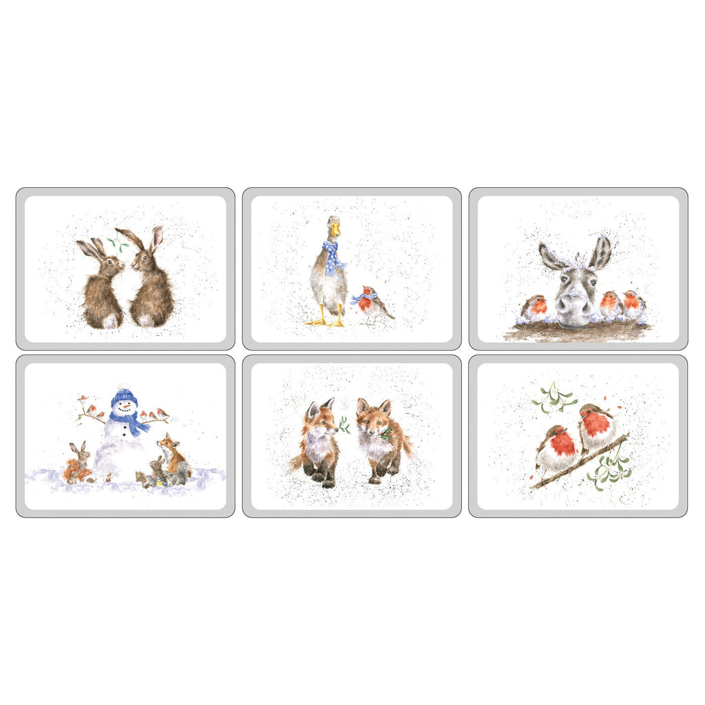 Wrendale Christmas Placemats ( Box Set of 6 )