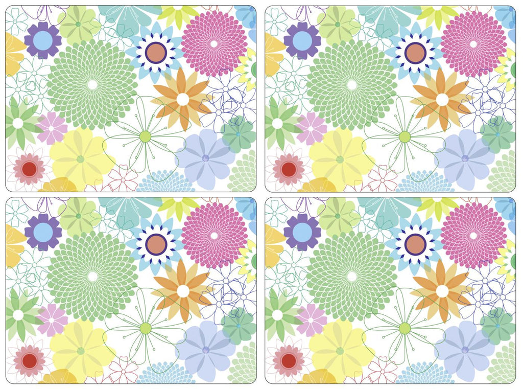 Crazy Daisy  Large Placemats Box Set of 4