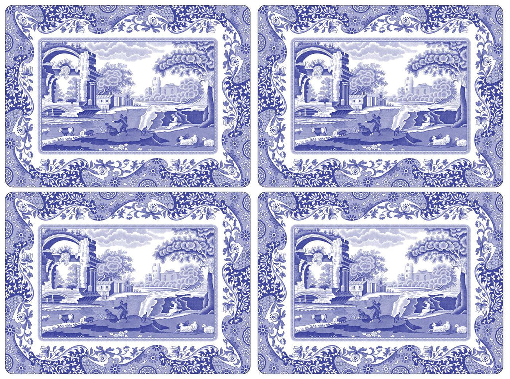 Spode Blue Italian Extra Large Placemats Set of 4