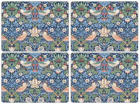 Morris & Co Strawberry Thief Blue Extra Large Placemats ( Set of 4 )
