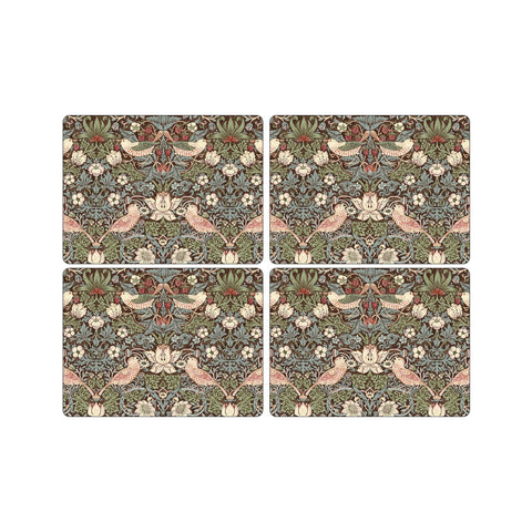 Morris & Co Strawberry Thief Brown Extra Large Placemats ( Set of 4 )