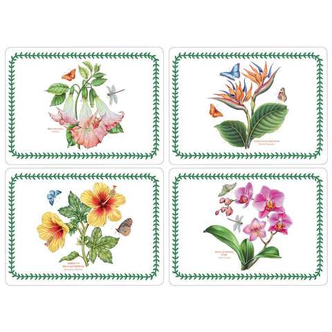Exotic Botanic Garden Large Placemats Set of 4