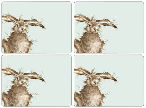 Wrendale Extra Large Placemats Set of 4 - Hare