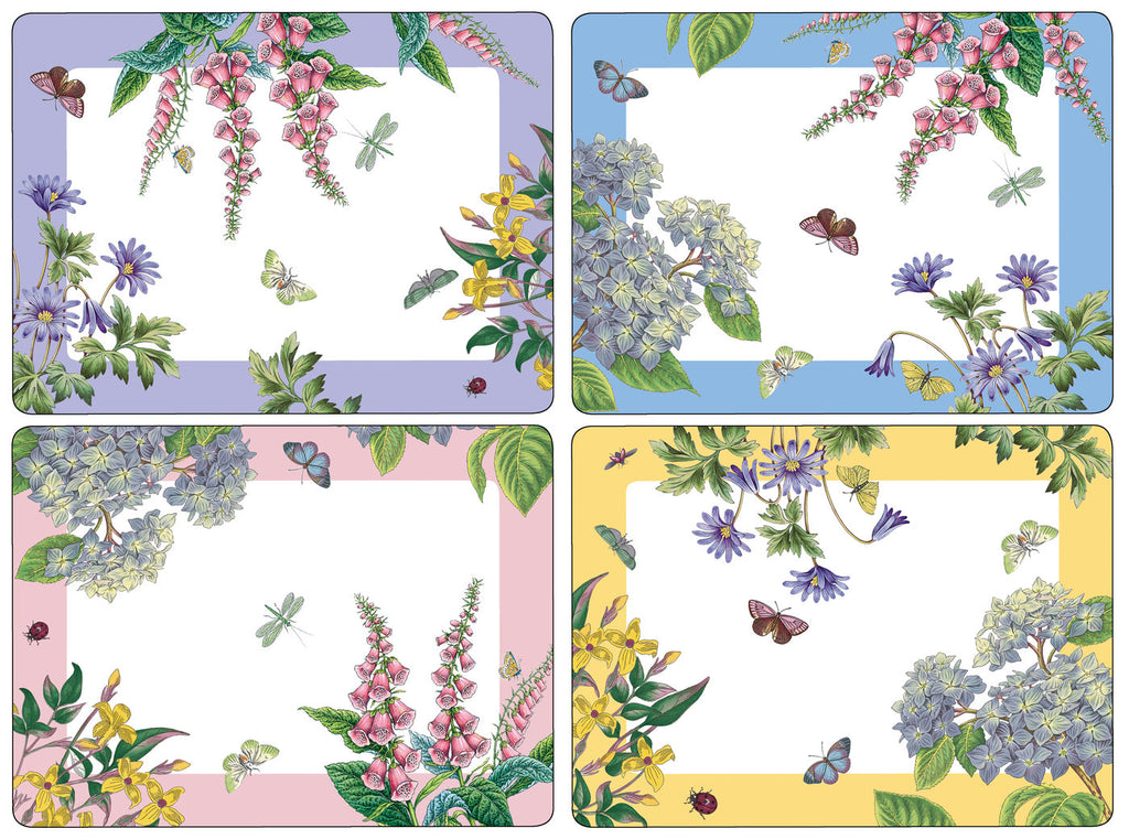 Botanic Garden Terrace Extra Large Placemats ( Box Set of 4 )