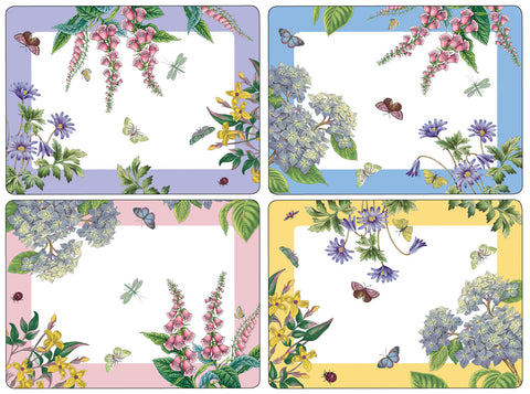 Botanic Garden Terrace Large Placemats Box Set of 4
