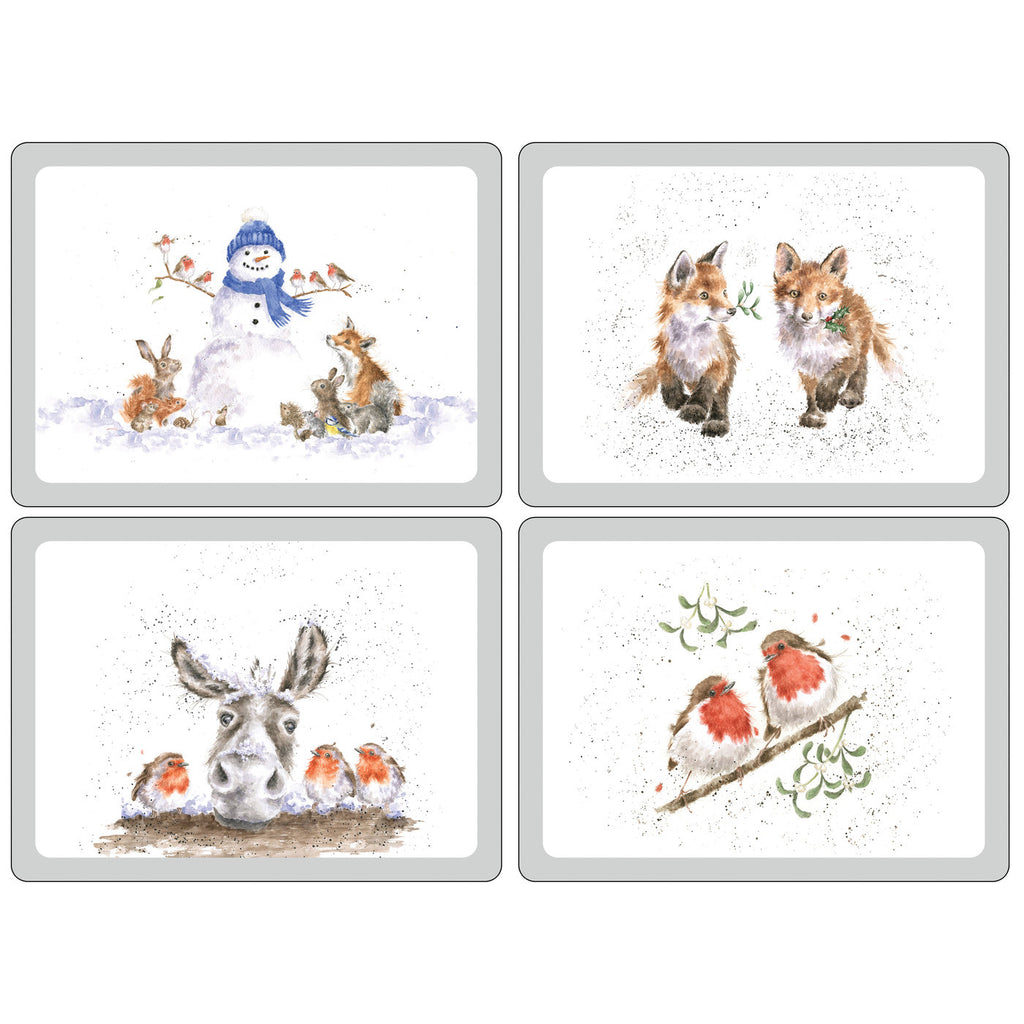 Wrendale Christmas Extra Large Placemats ( Box Set of 4 )
