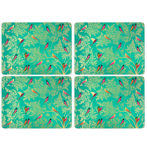 Sara Miller Set of 4 Extra Large Placemats Chelsea Collection Green