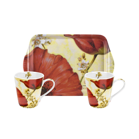 Poppy de Villeneuve Mini Mugs & Tray Set