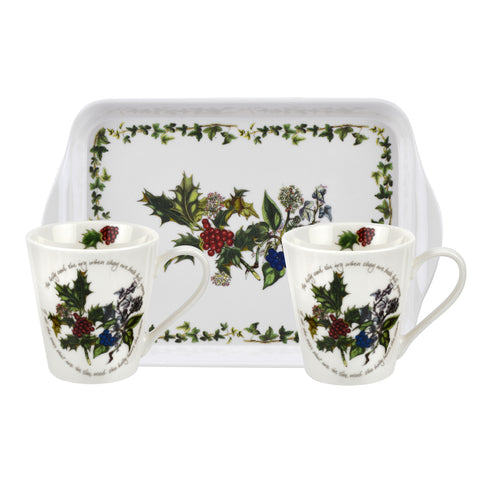 The Holly & the Ivy  Mini Mugs & Tray Set
