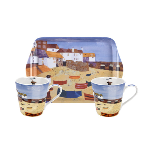 St Ives Windbreak Mini Mugs & Tray Set
