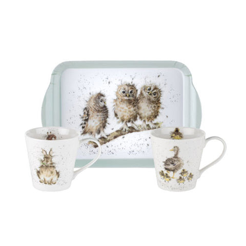Wrendale Mini Mugs & Tray Set