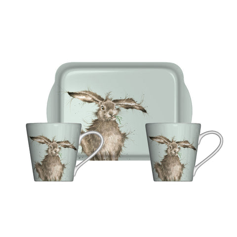 Wrendale Mini Mugs & Tray Set - Hare