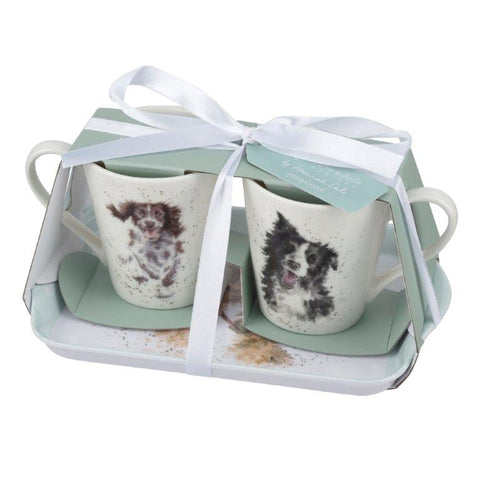 Wrendale Mini Mugs & Tray Set - Dogs