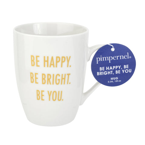 Pimpernel Mug - Be Happy, Be Bright, Be You