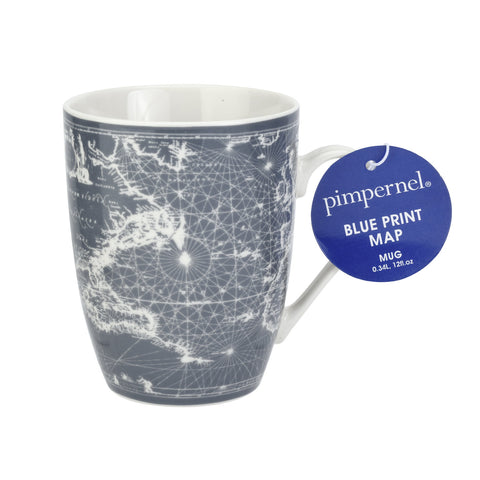 Pimpernel Mug - Blue Print Map