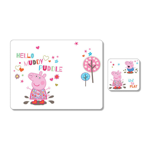 Peppa Pig Children's Placemat & Coaster Set