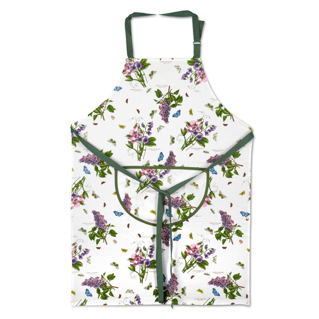 Botanic Garden Cotton Drill Apron with Pocket