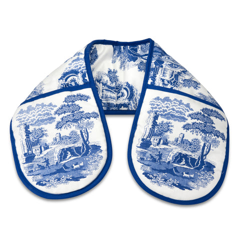 Spode Blue Italian Double Oven Gloves