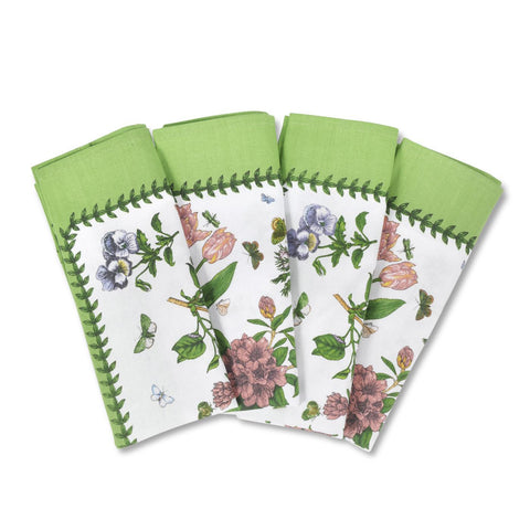 Botanic Garden - Cotton Napkins - Chintz Design ( Pack of 4 )