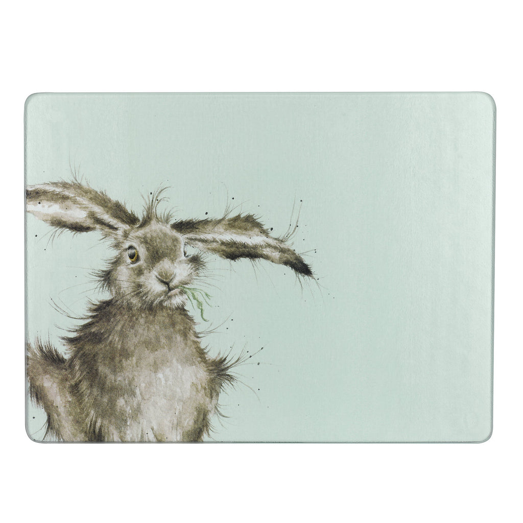 Wrendale Glass Worktop Saver - Hare