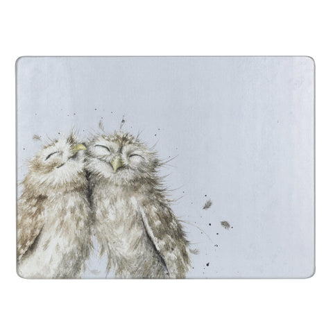 Wrendale Glass Worktop Saver - Owl