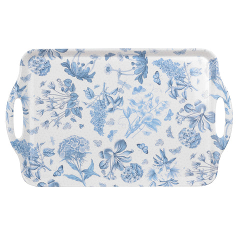 Botanic Blue Large Handled Tray