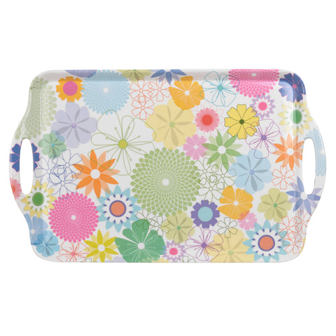 Crazy Daisy Large Handled Tray