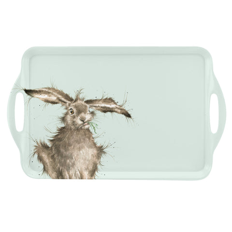 Wrendale Large Handled Tray - Hare