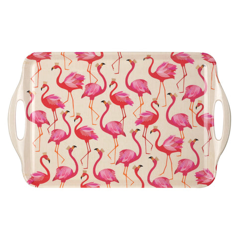 Sara Miller Large Handled Tray Flamingo Collection