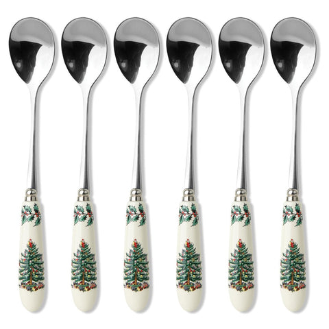 Spode Christmas Tree Tea Spoons ( Box Set of 6 )