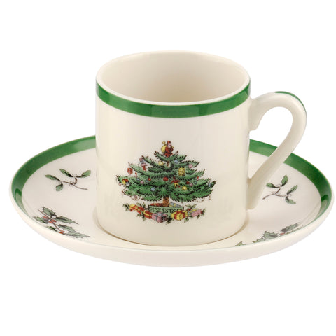 Spode Christmas Tree Espresso Cup & Saucer ( OUT OF STOCK NO MORE AVAILABLE )