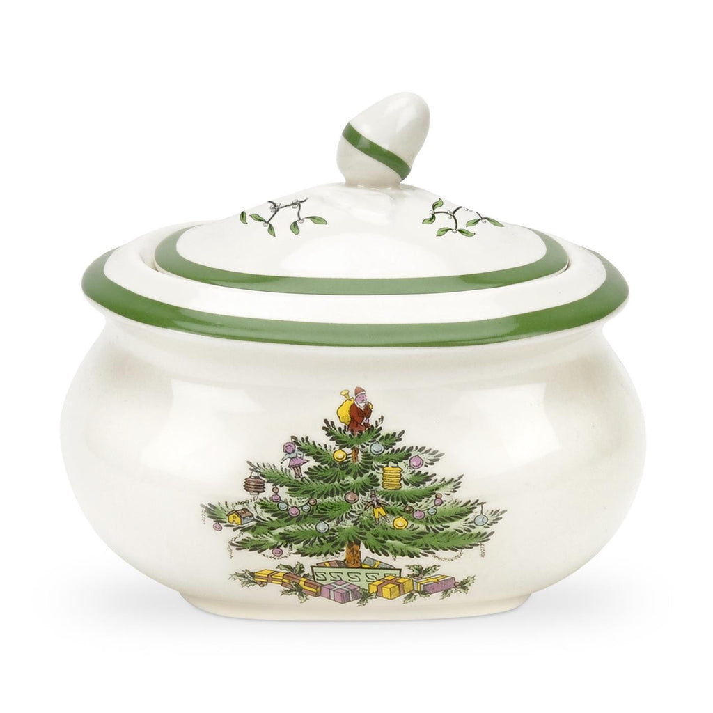 Spode Christmas Tree Sugar Box