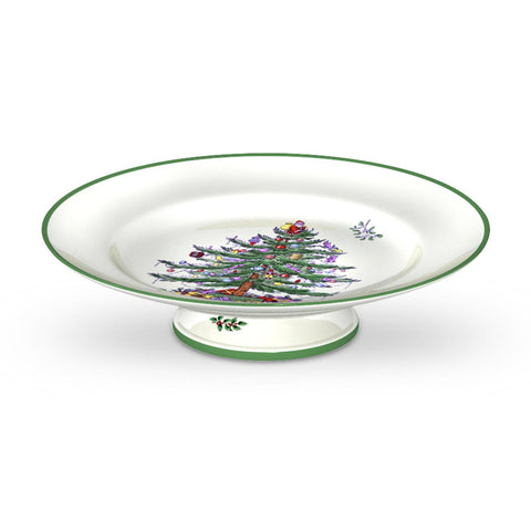 Spode Christmas Tree Footed Cake Plate